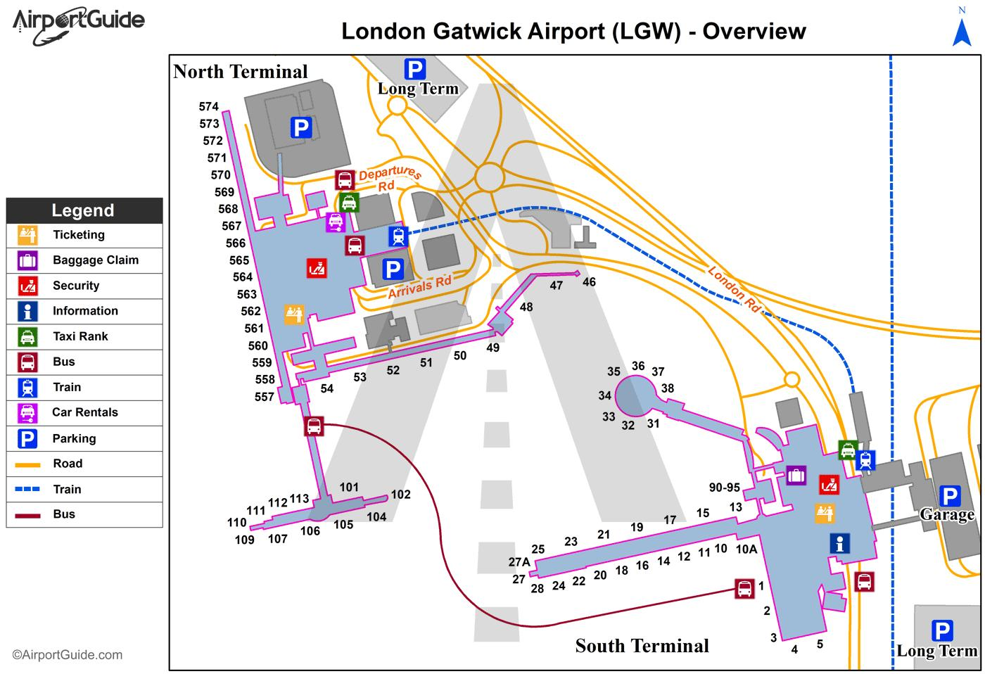 How To Get To Gatwick South Terminal By Car